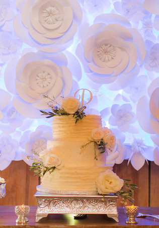 Cake Table Backdrop - Paper Flower Wall
