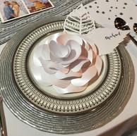Paper Flower Plate Setting