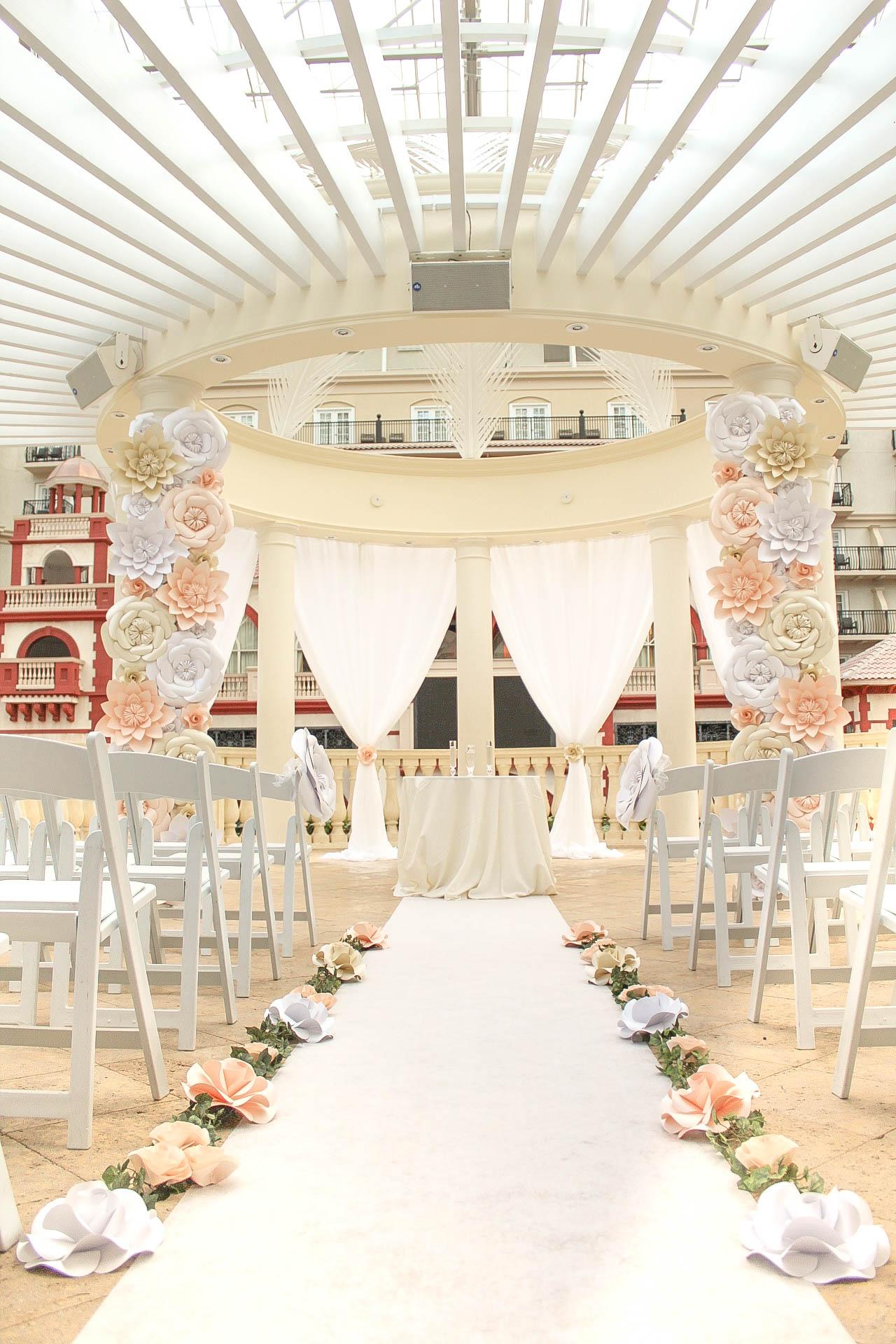 Orlando Wedding Paper Flower Decor