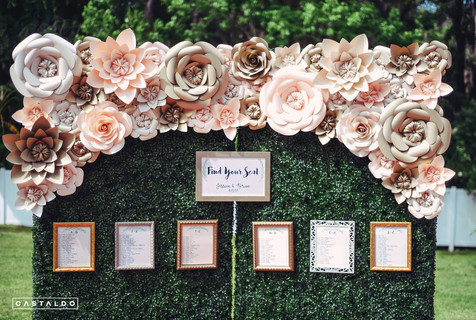 Half Wall Paper Flowers Orlando