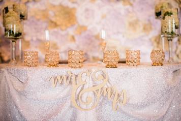 Champagne & Shimmer Paper Flower Backdrop Orlando