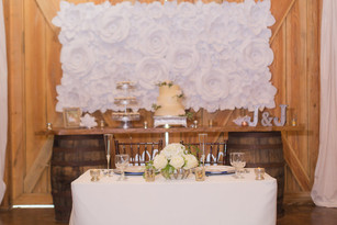 Sweetheart Table Backdrop Paper Flower