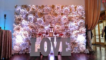 Lighted Paper Flower Backdrop
