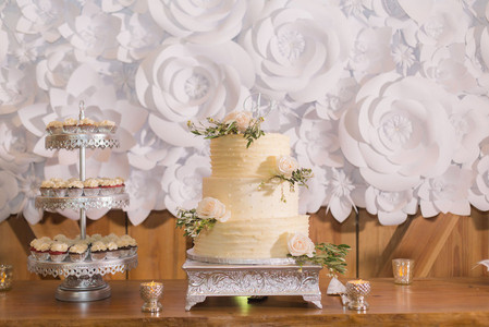 Cake Paper Flower Backdrop
