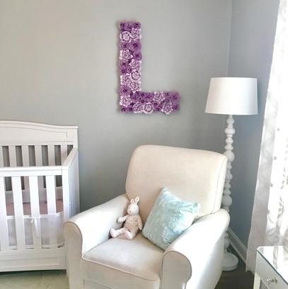Custom Nursery Baby Initial