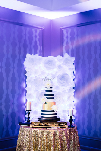 Cake Table Backdrop - LED Paper Flower Backdrop