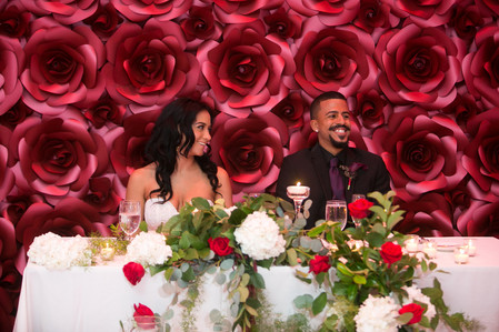 Sweetheart Table Backdrop Red Rose