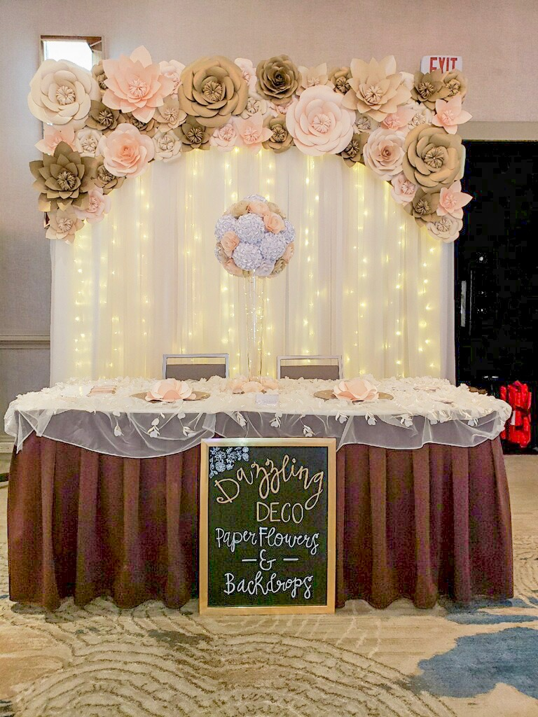 Blush Pink & Gold Topper