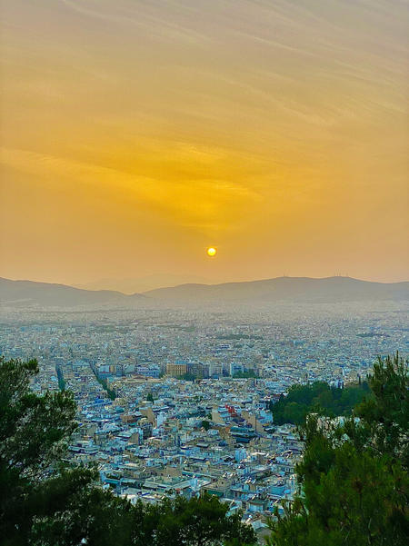 Sunset from Lycabettus, Athens