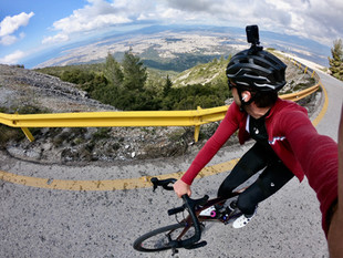 Riding in Athens, Greece : Ymittos Mountain