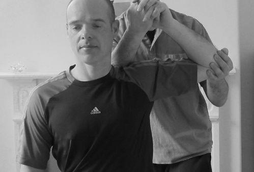Sports massage technique in action
