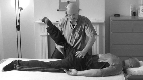 Working on hip flexibility
