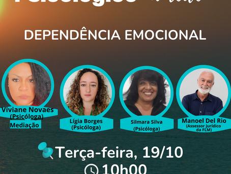 """LIVE """"Dependência emocional"""" no Plantão Psicológico na Rede"""