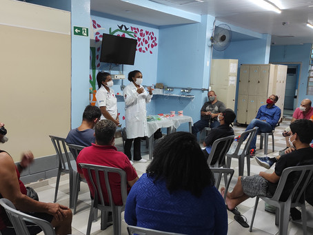 C A SANTA CECÍLIA — Palestra sobre Saúde Bucal