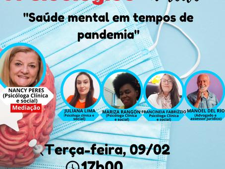 ESTREIA: LIVES TEMÁTICAS DO PLANTÃO PSICOLÓGICO DA APOIO