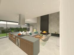 casa chassot | cozinha, sala de estar e jantar