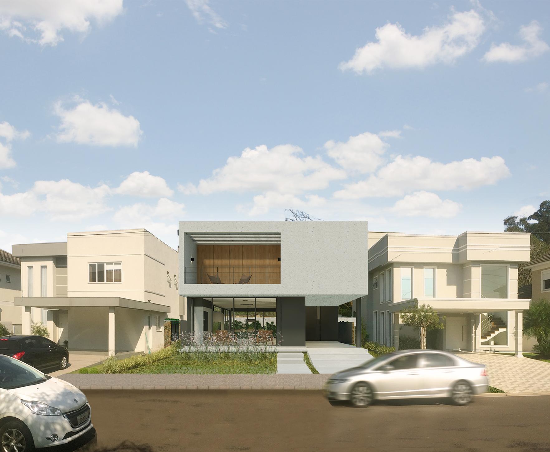 casa coracini | fachada frontal