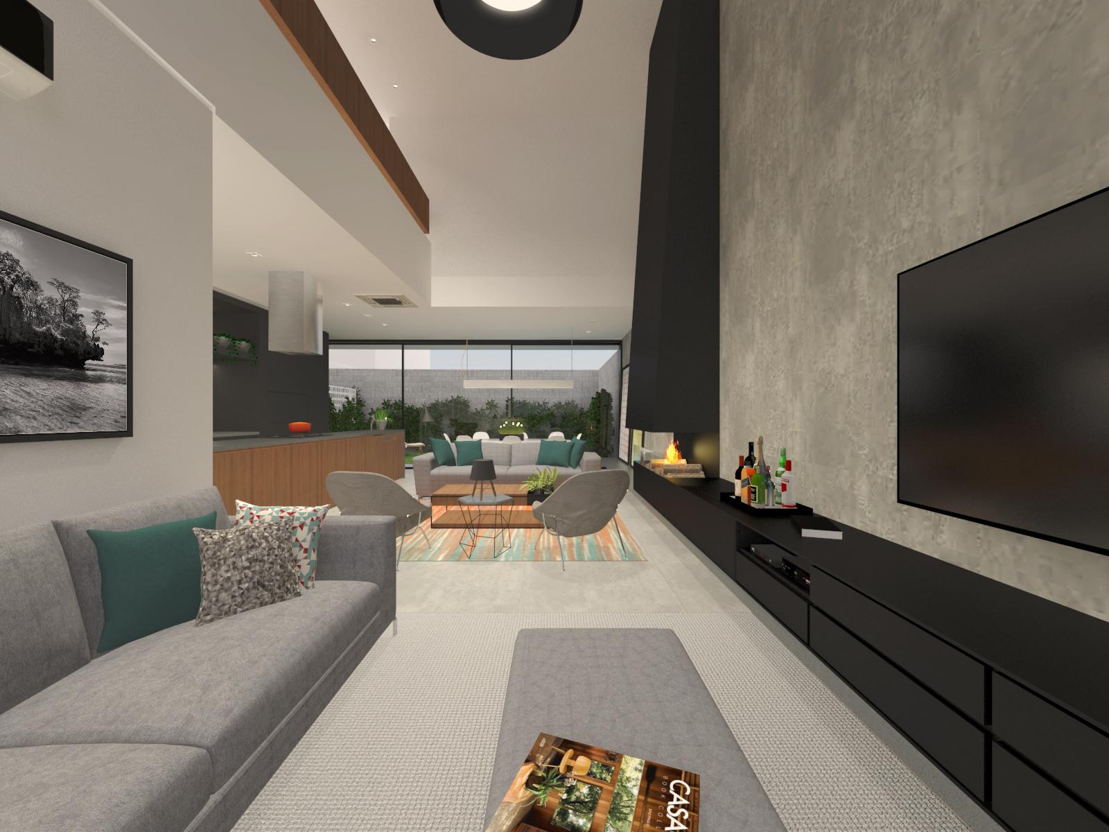 casa chassot | sala de estar e jantar
