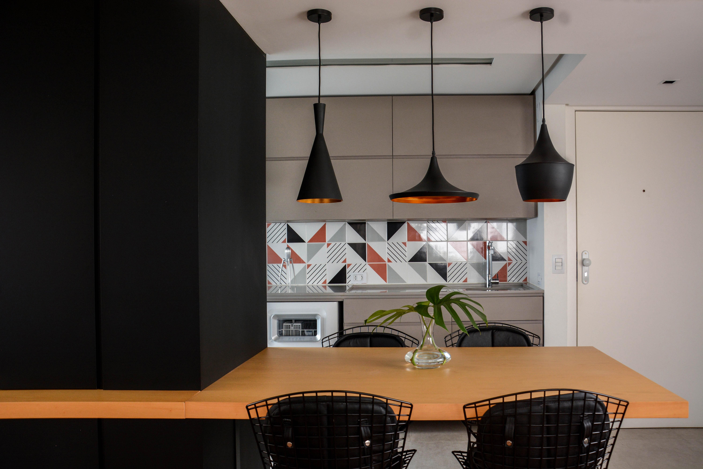 apartamento ondina | jantar integrado à cozinha