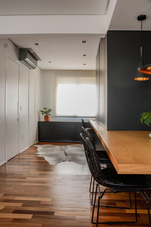 apartamento ondina | jantar integrado à cozinha e home office