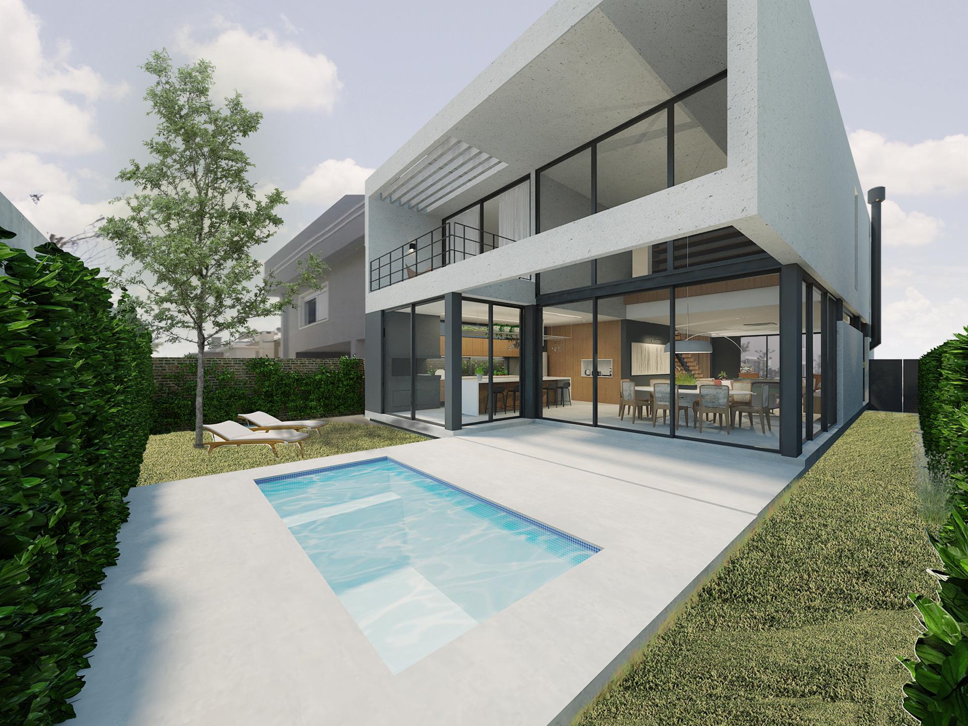casa coracini | fachada posterior