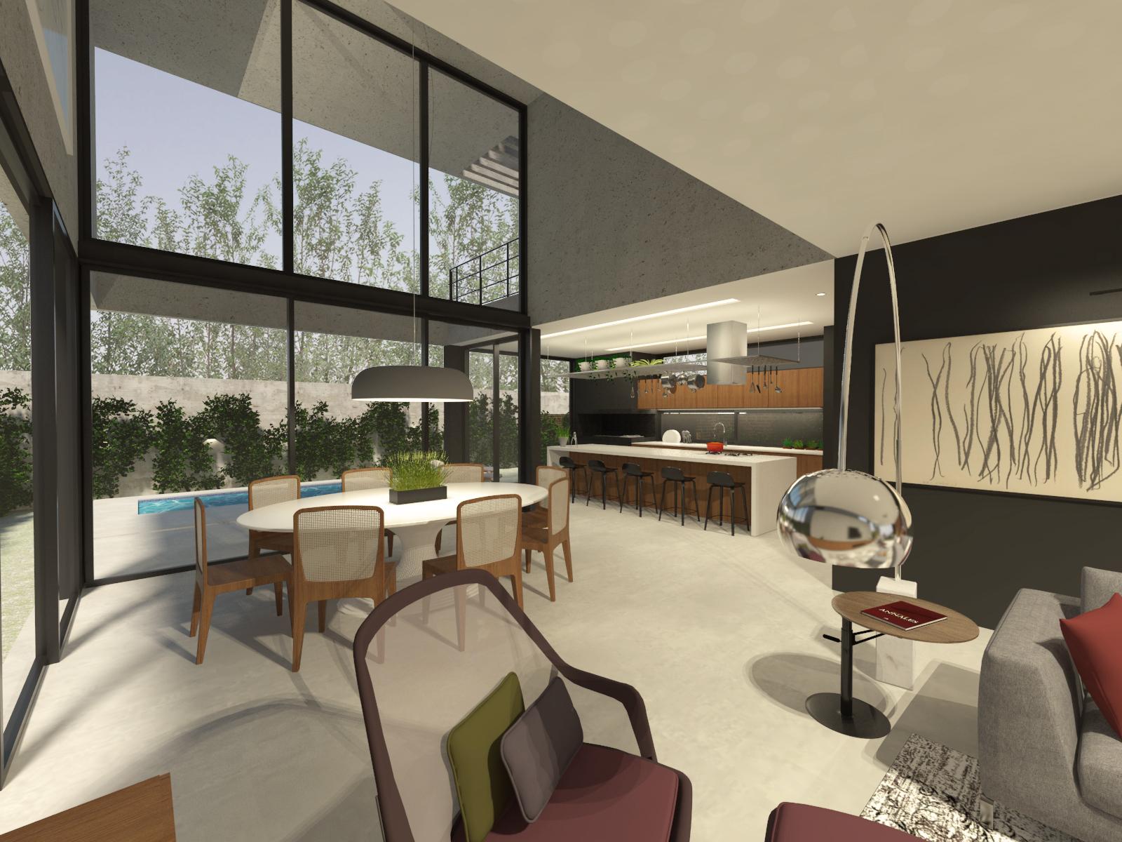 casa coracini | sala de jantar e cozinha
