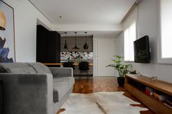 apartamento ondina | estar integrado à cozinha