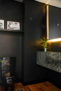 apartamento ondina | lavabo | cuba de granito verde apicoado