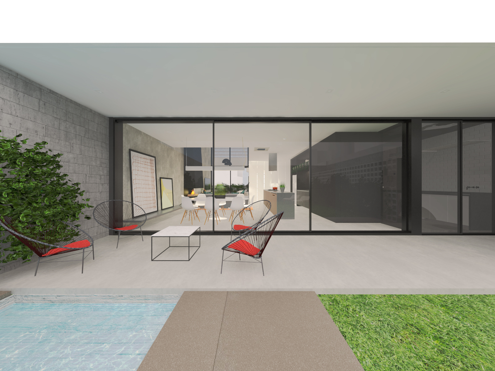 casa chassot | fachada posterior