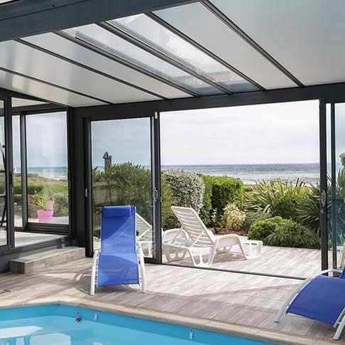 Location de vacances avec piscine intérieure
