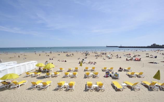La grande plage des Sables-d'Olonne