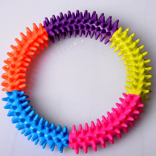 The dog biting rubber thrust ring