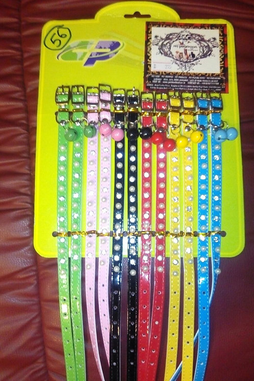 1pc cat collar transparent with crystals