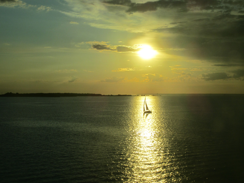 Sailboat outside Tallinn, Estonia