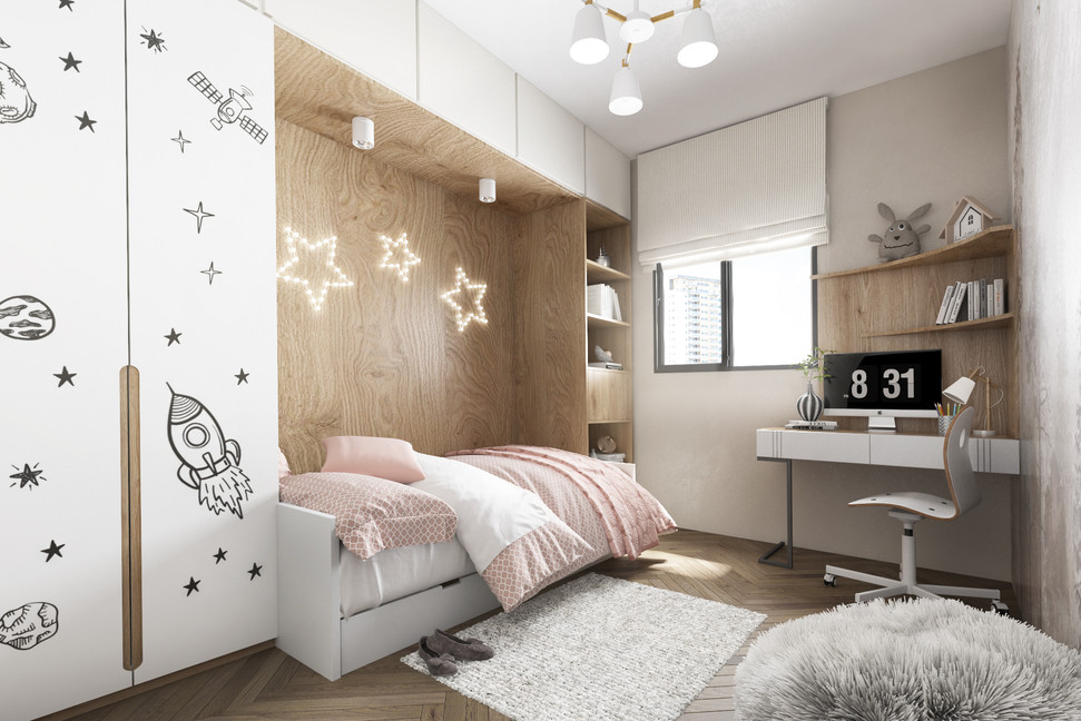 חדר שינה - פרויקט קרית ביאליק