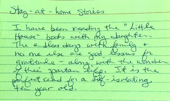 Stay-at-home stories: Little House
