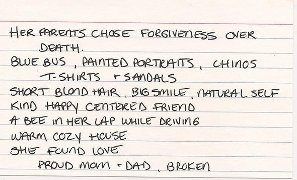 Her parents chose forgiveness