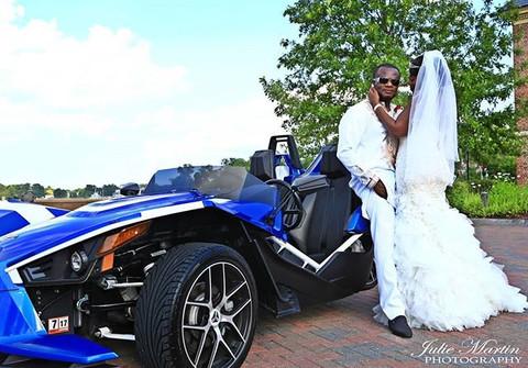Bride + Grooms getaway car. #slingshot O