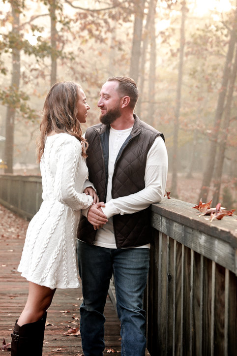 Fall winter engagement session