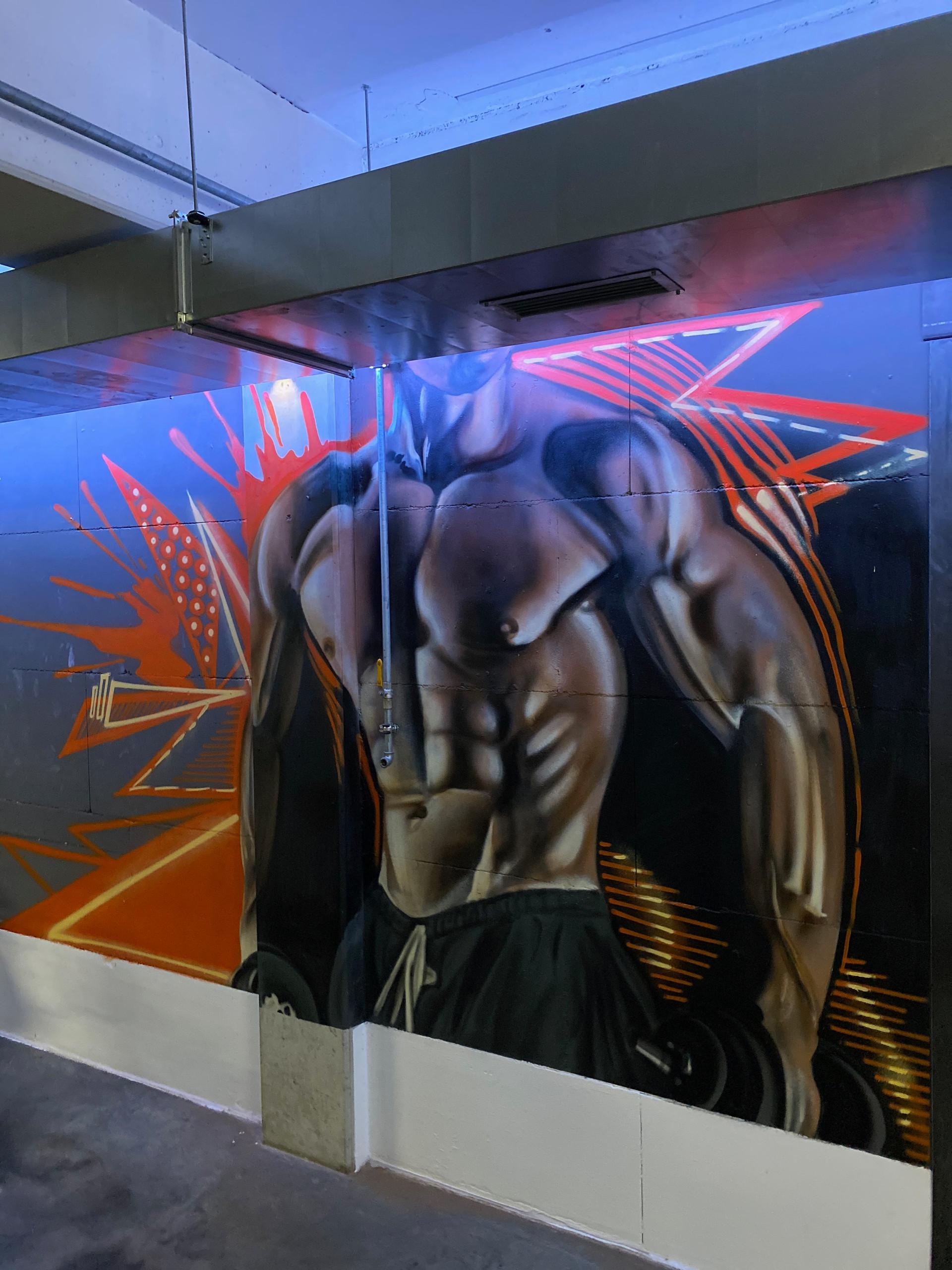 Fitnessstudio Graffiti