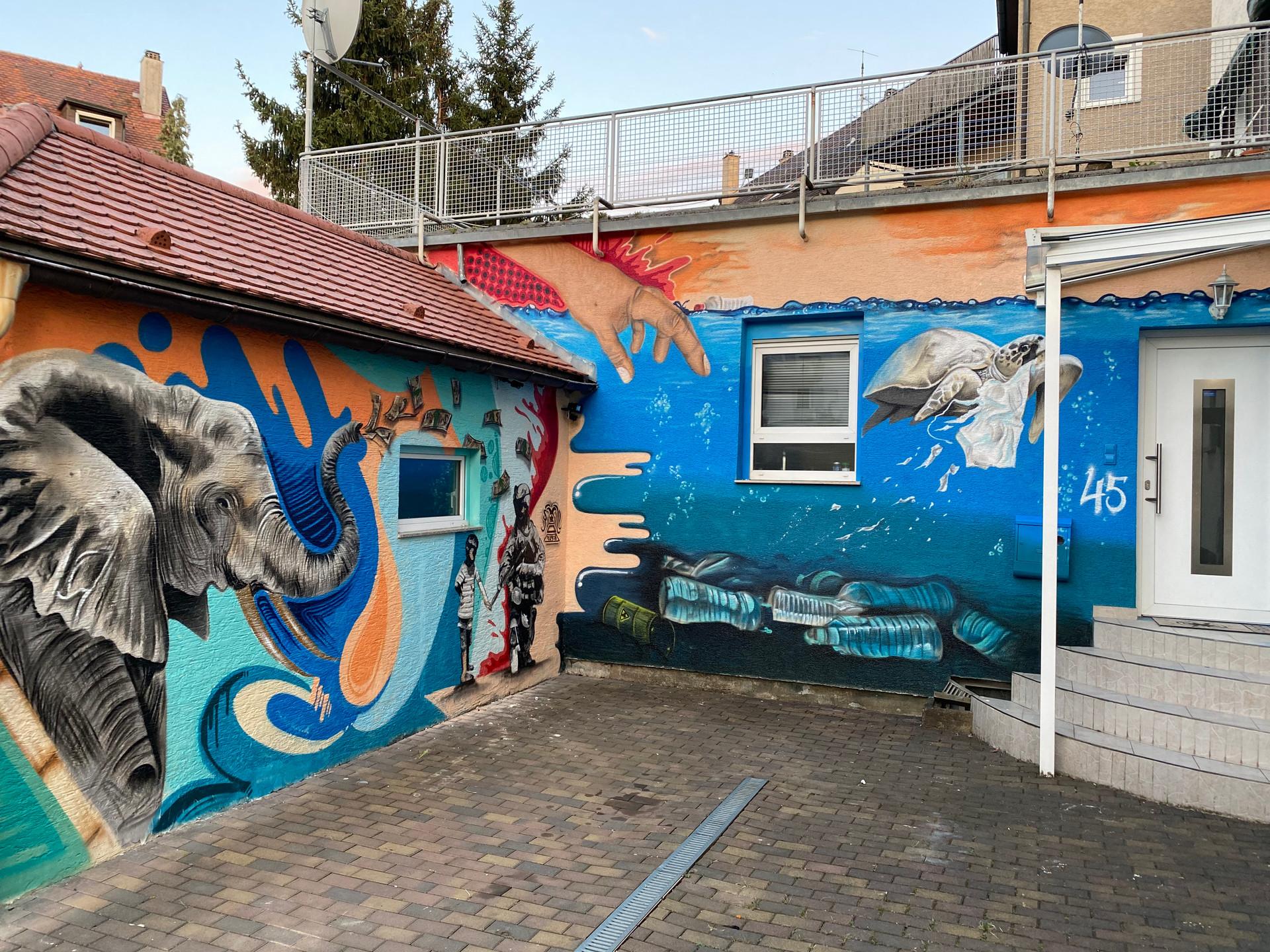 Klimaschutz Graffiti Art