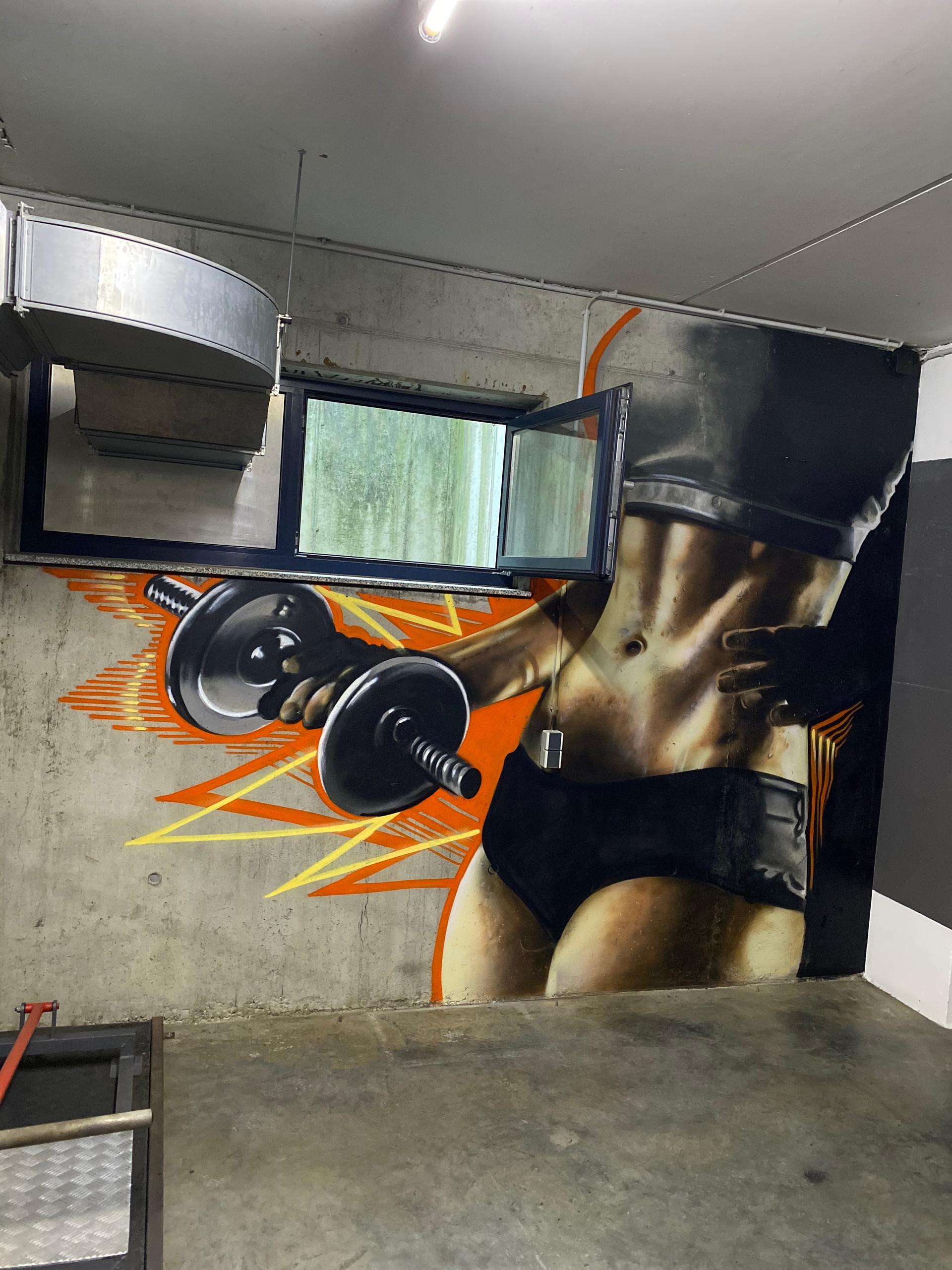 Fitness Körper Graffiti