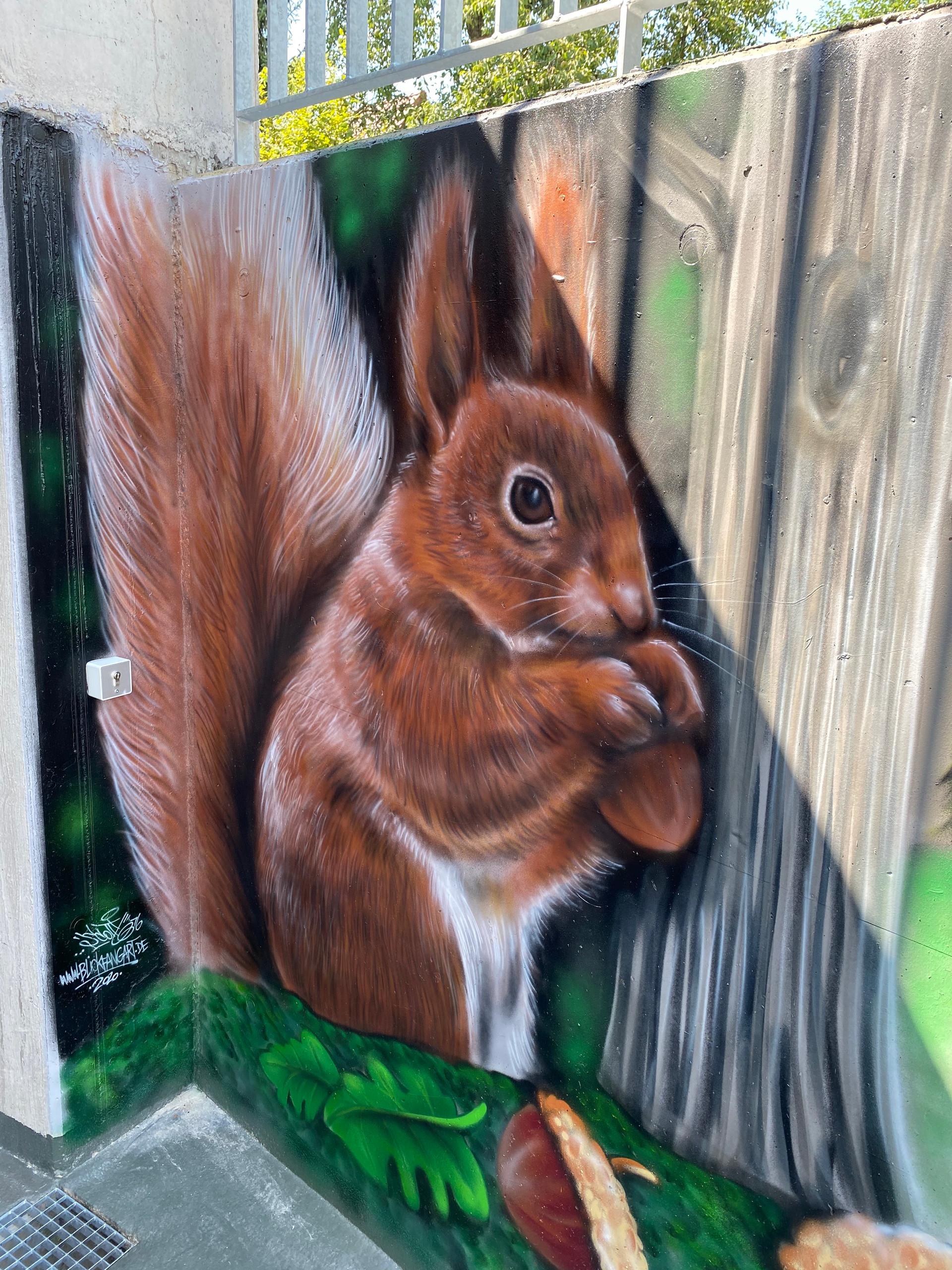 Eichhörnchen Graffiti Airbrush
