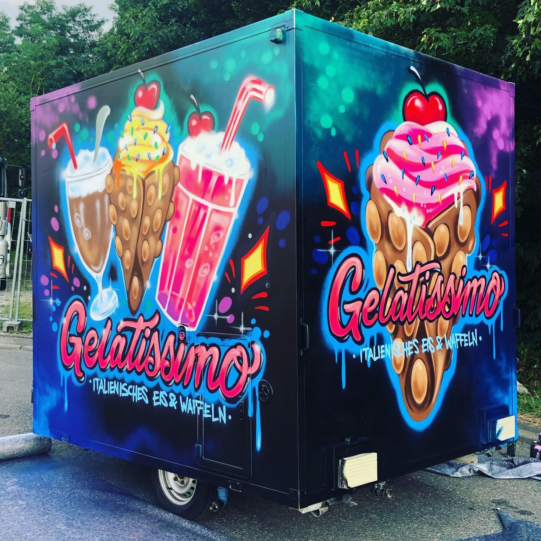 Imbisswagen Gestaltung Graffiti