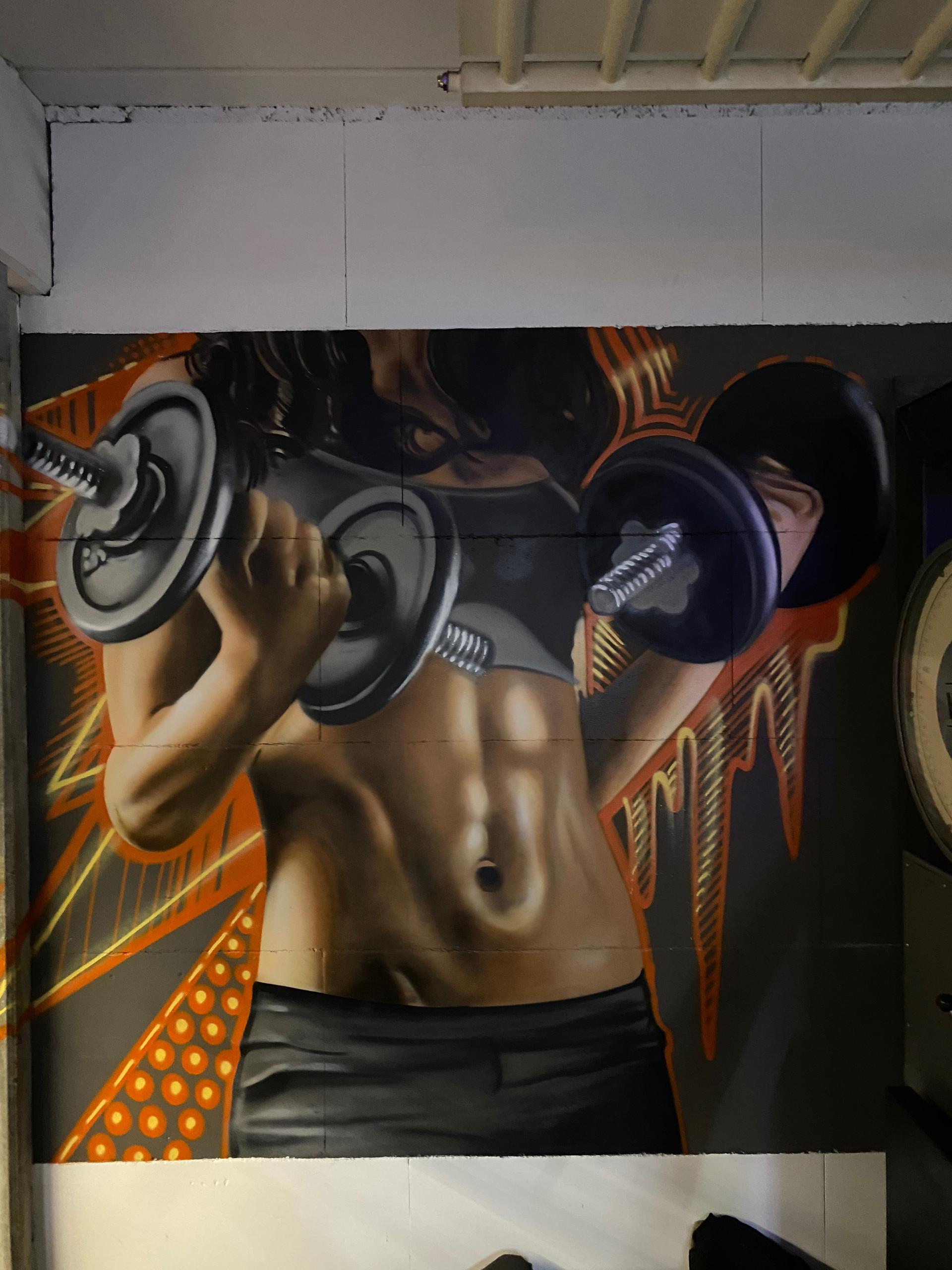 Sport Körper Graffiti