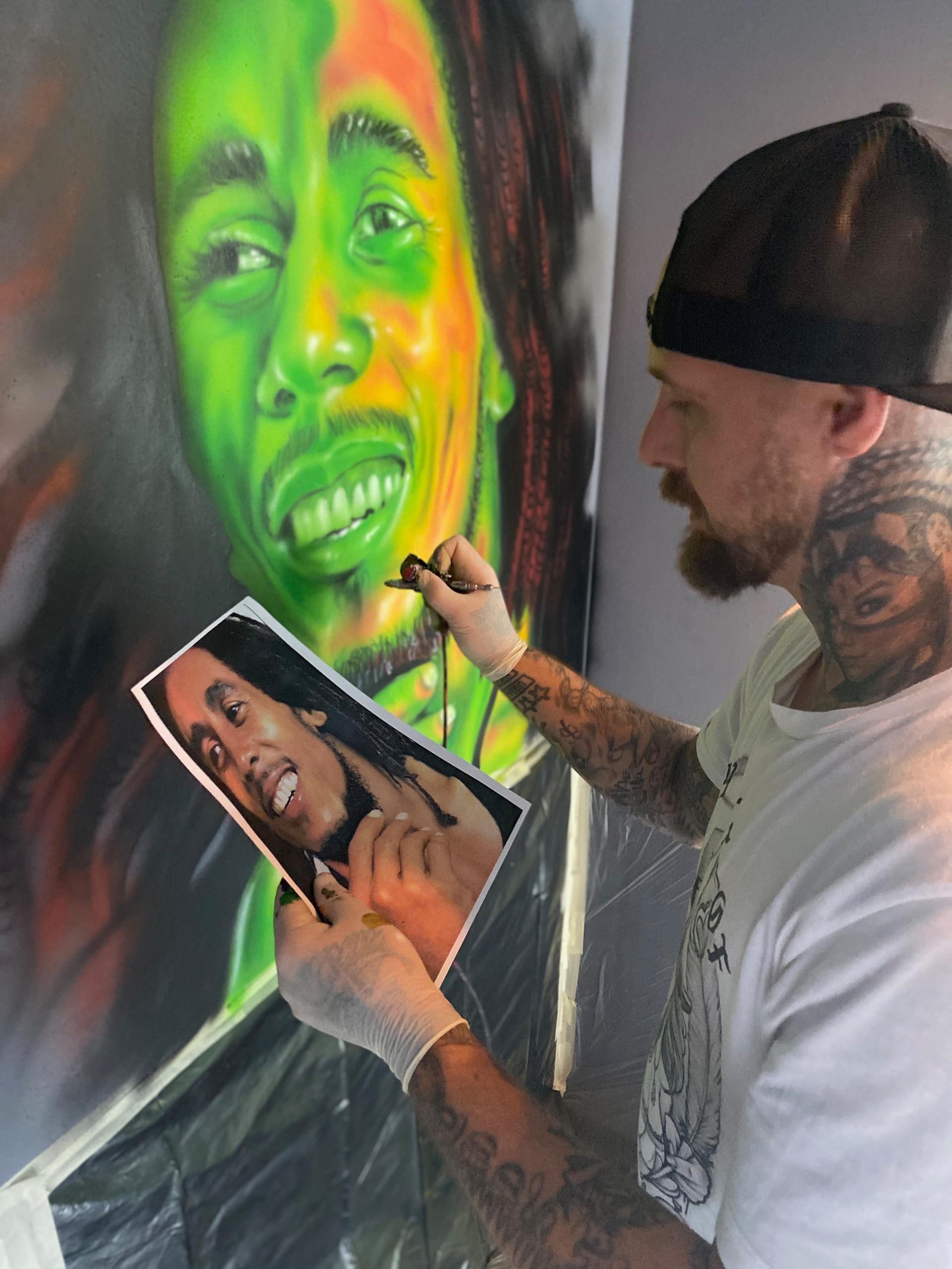 Airbrush Graffiti Bob Marley