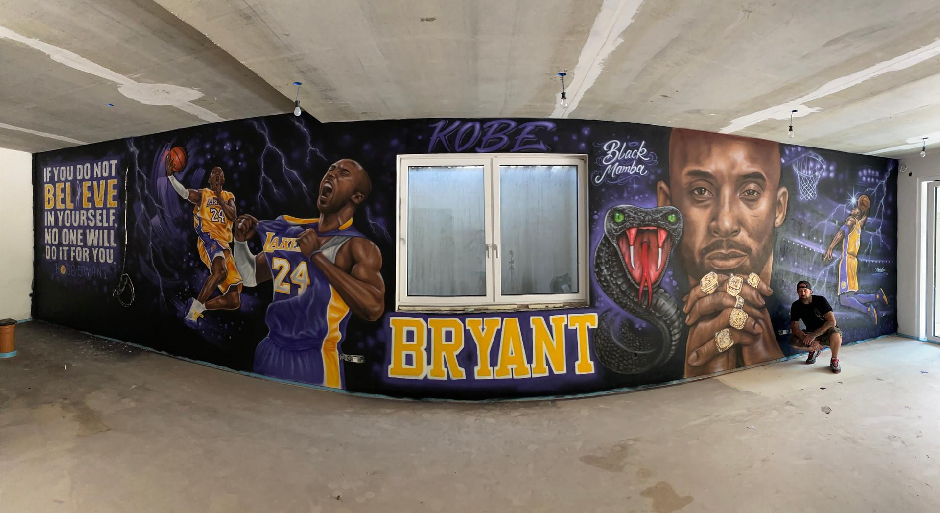 Kobe Bryant Mural in Graffiti und Airbrush Style