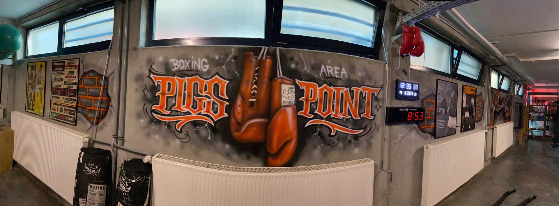 Fitnessstudio Graffiti Art