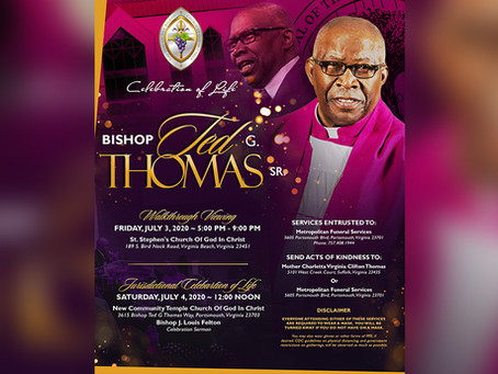 Honoring the Life of Bishop Ted G. Thomas, Sr.