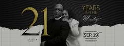 21st Pastoral Anniversary -- Website Banner